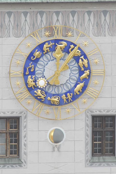 Window, Ornament, Architecture, Within, Clock, Time Of