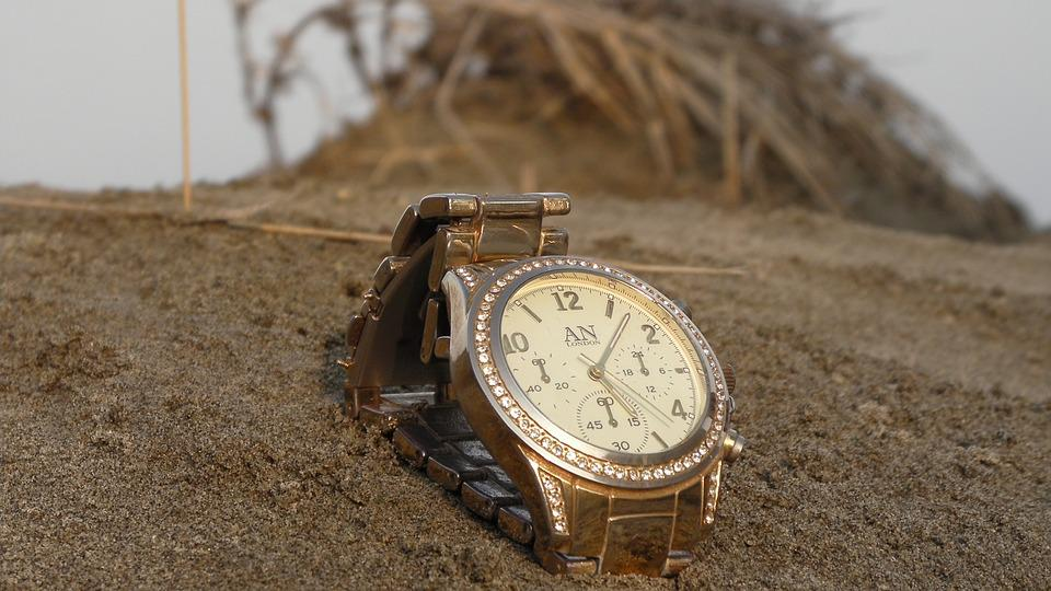 Watch, Sand, Time, Wrist Watch