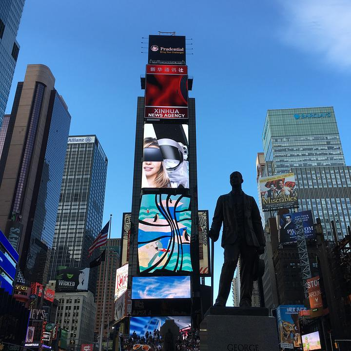 Manhattan, Time Square, Famous, New, Business, Downtown