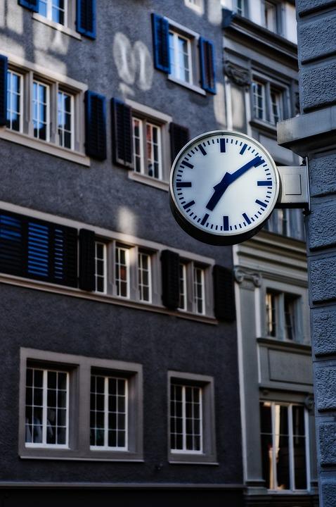 Time, Clock, Station, Symbolic, Zurich, Switzerland