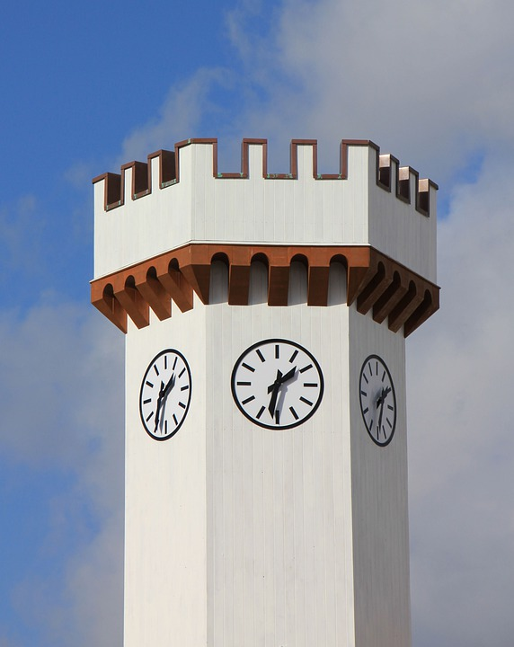 White, Sky, Tower, Clock, Watches, Time
