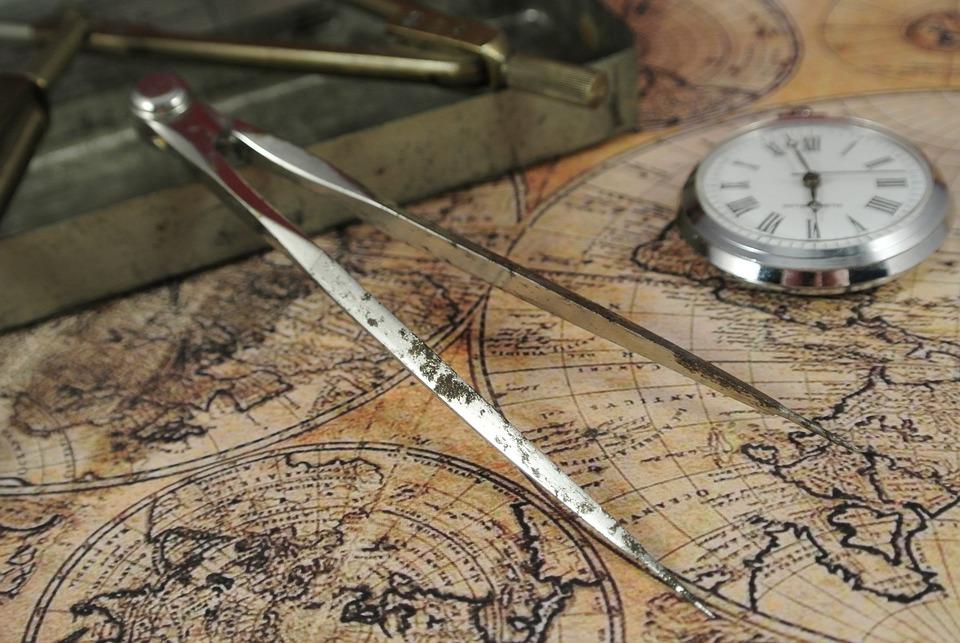 Zirkel, Map, Lake Map, Time, Clock, Pocket Watch