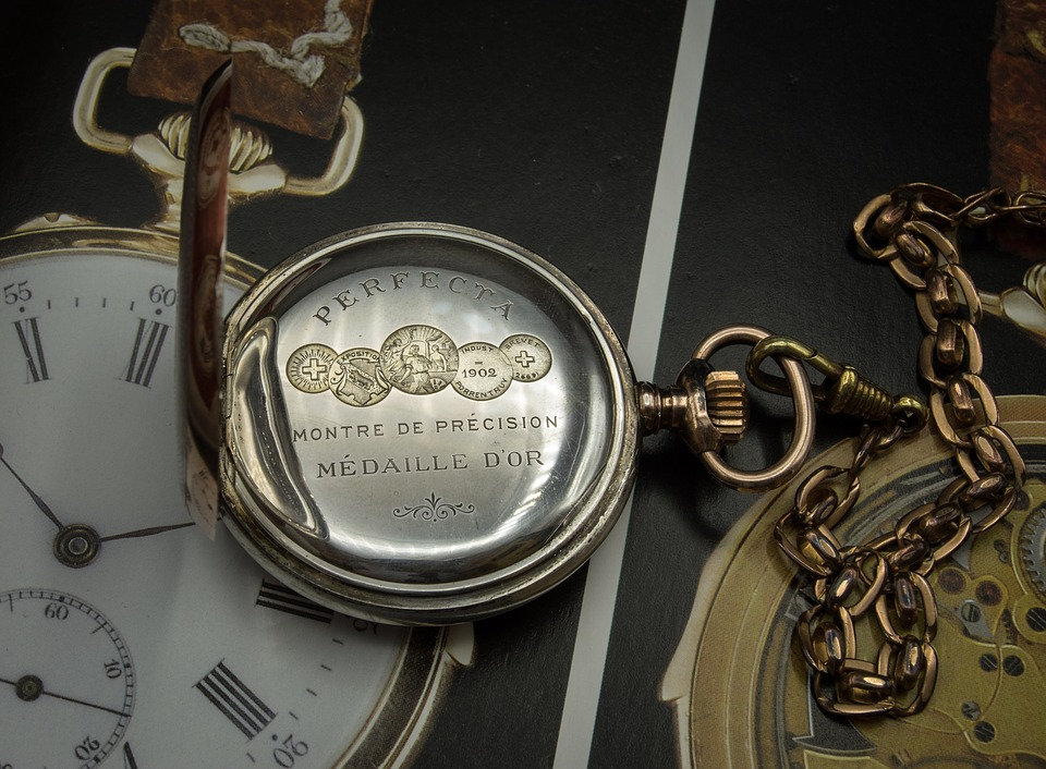 Pocket Watch, Dust Cover, Clock, Timepiece, Antique
