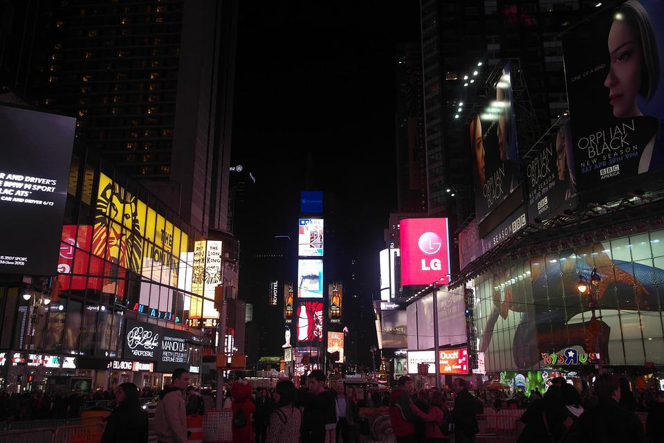 United States, New York, Times Square