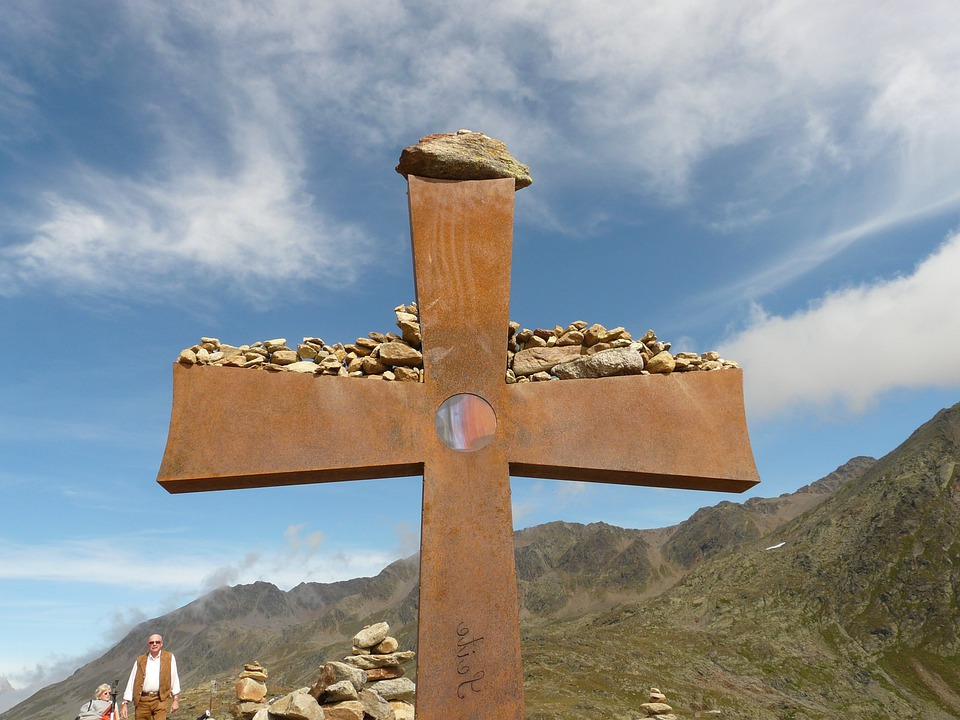 Cross, Summit Cross, Timmelsjoch, Metal, Stainless