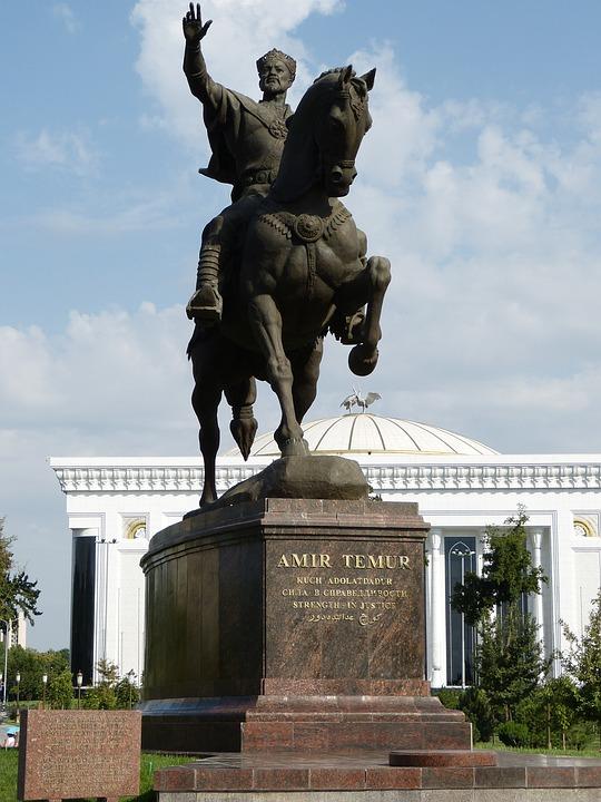 Timur, Timur Tamerlan, Statue, Monument, Reiter