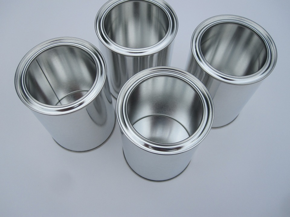 Cans, Glance, White, Metal, Sheet, Tin, Paper