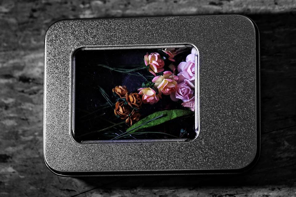 Box, Flowers, Tiny, Miniature, Love