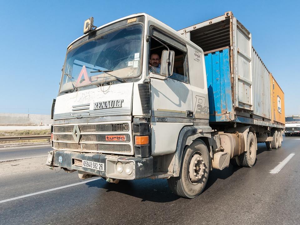 Truck, Road, Tipaza, Algeria, Africa, Architecture