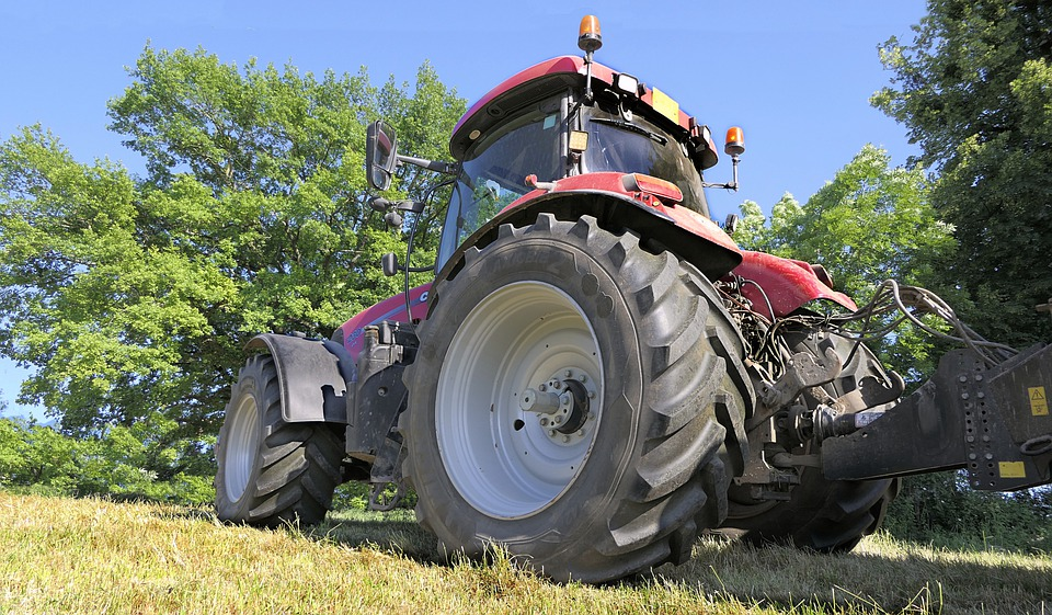 Tractor, Wheel, Tire, Machine, Vehicle, Agriculture