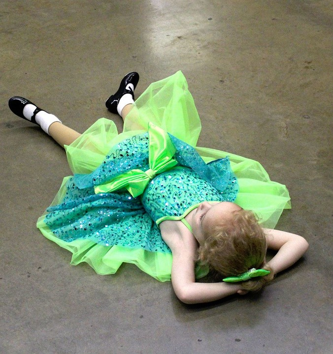Dance, Recital, Worn Out, Tired, Tap Shoes, Costume