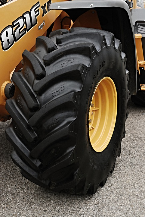 Round, Tire, Feeder, Black, Tires, Mechanization