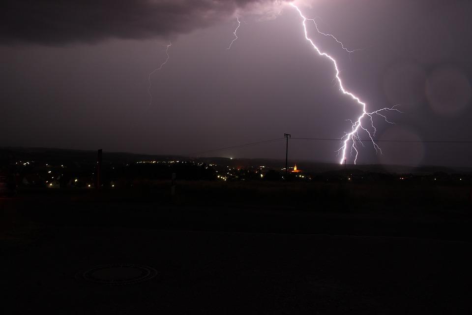 Thunderstorm, Tirschenreuth, Flashes
