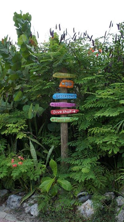 Directory, Waymarks, Arrow, To Find, Abc Islands