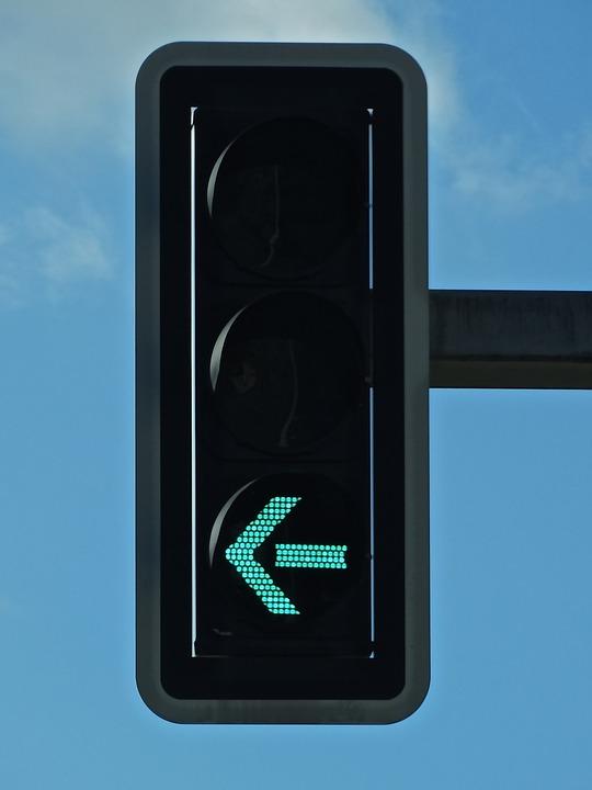 Traffic Lights, Light, Arrow, To The Left, Turn