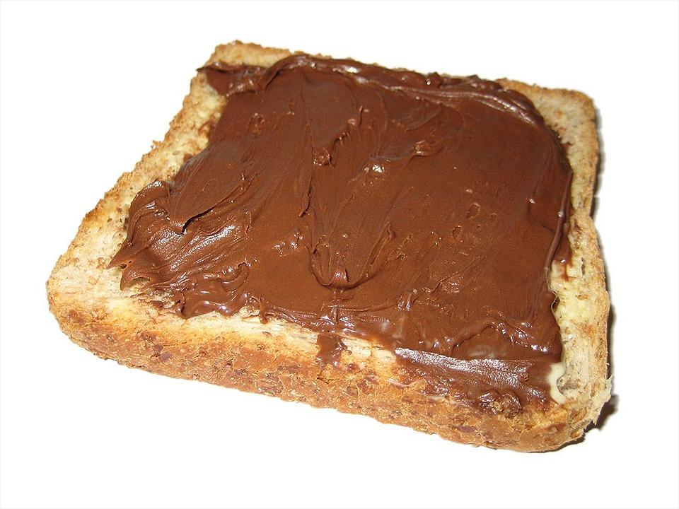 Nutella, Toast, White Bread, Chocolate Cream