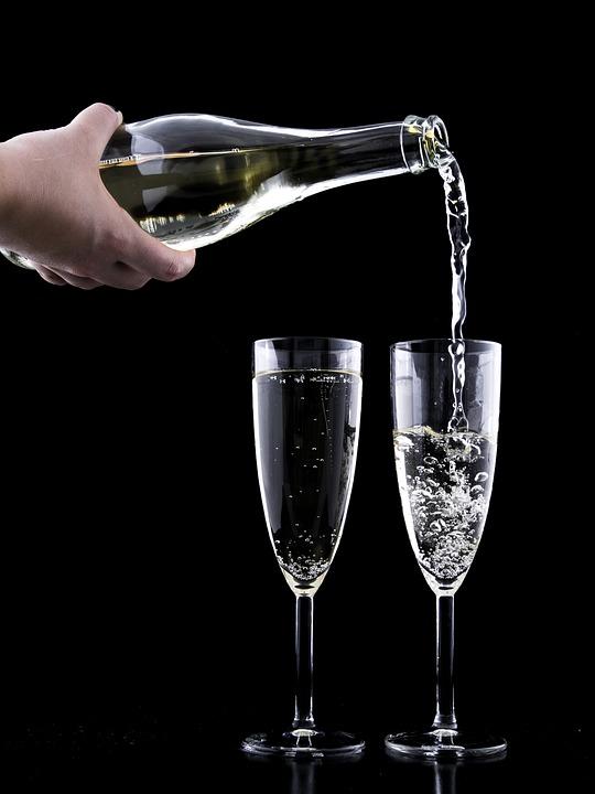 Eve, Drink, Crystal, Festive, Glass, Year, Toast, New