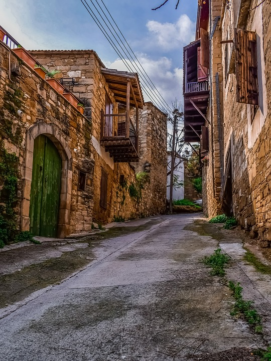 Cyprus, Tochni, Architecture, Traditional, Houses, Old