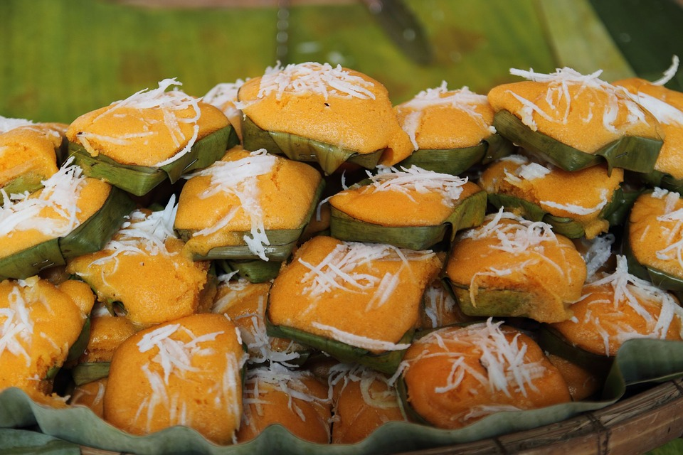 Toddy Palm Cake, Sweets, Candy Thailand