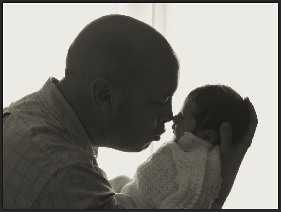 Father, Baby On Board, Baby, Love, Dad, Together