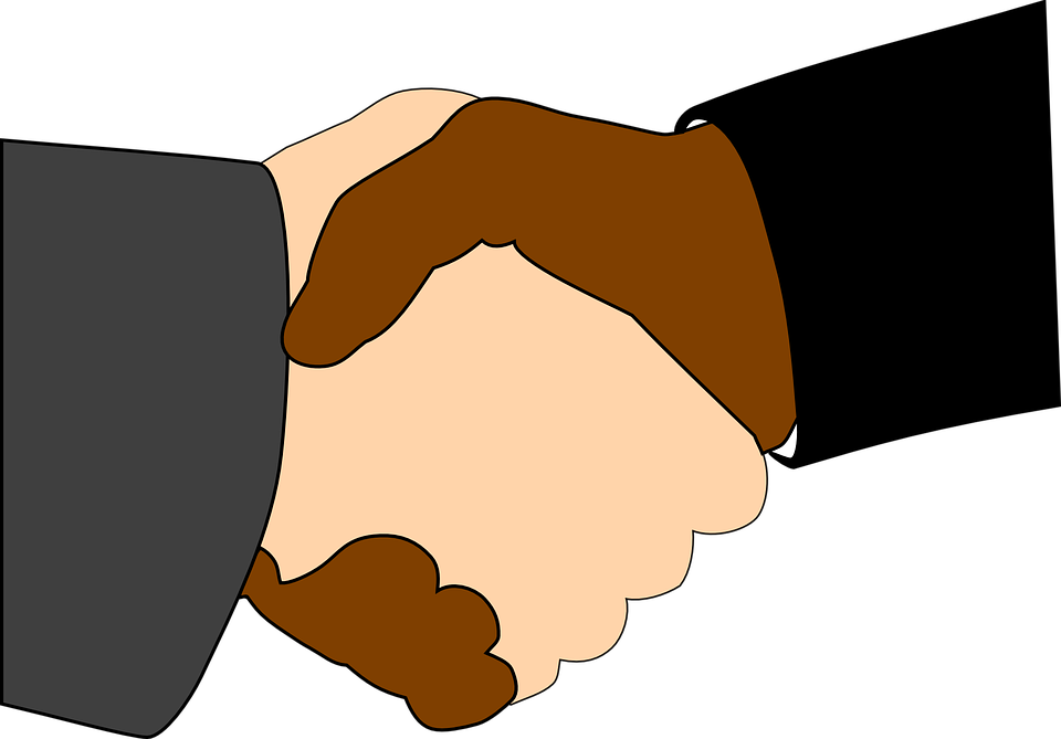 Handshake, Black, White, Together, Affirm, Equal