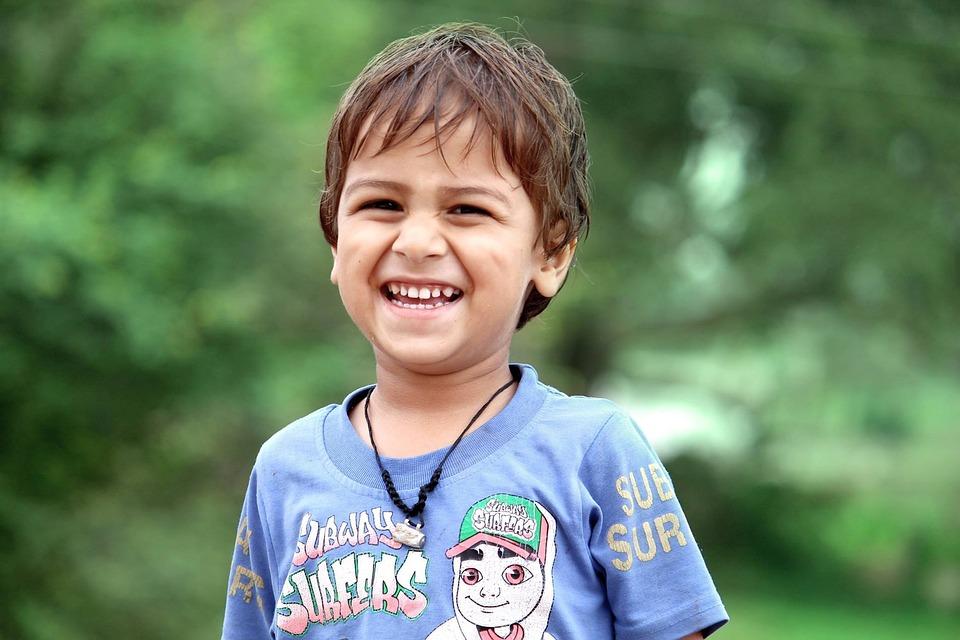 Playing Boy, Happy Boy, Together, Portrait, Cute, Child