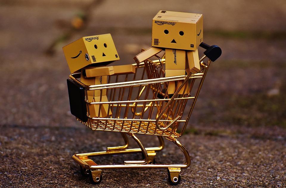 Danbo, Figures, Shopping Cart, Shopping, Together