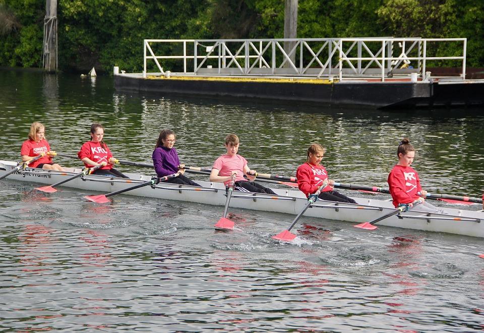 Team, Teamwork, Punting, Thames, Cooperation, Together