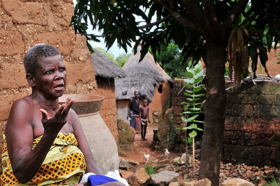 Old, Woman, Africa, Village, Togo, Portrait