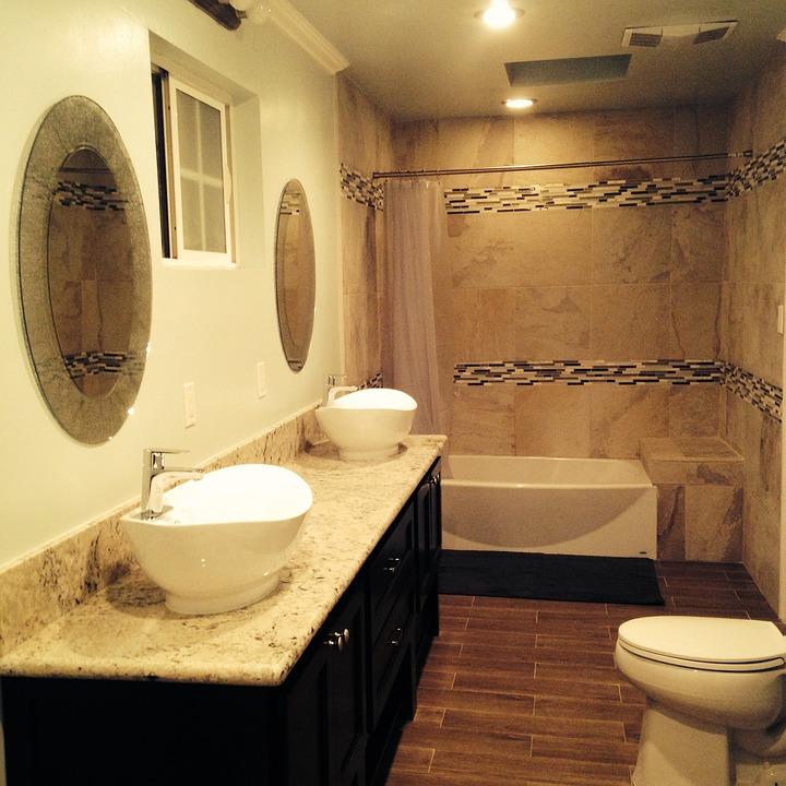 Bathroom, Tiles, Toilet, Sink, Home, Interior, House