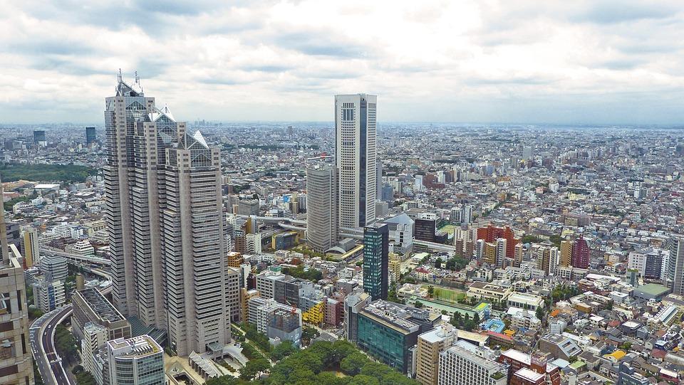 Japan, Tokyo, Skyscraper, Building, City, Urban