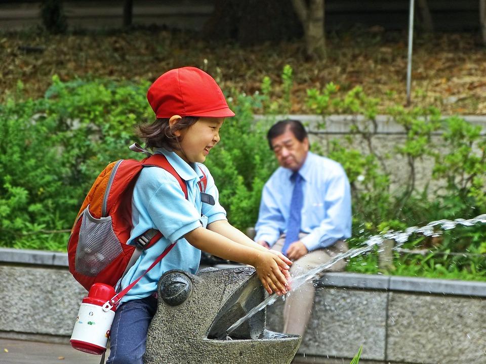 Japan, Tokyo, Ueno, Park, Japanese, Girl, Old Man