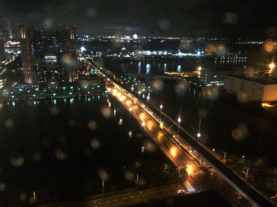 Tokyo, The Rainy Season, Night, Rainwater, Water