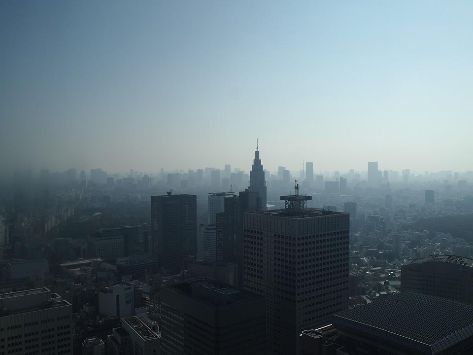 Tokyo, Morning, Shinjuku, Haze, High-rise Buildings