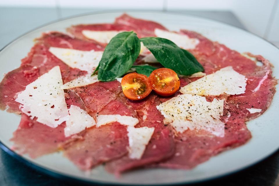 Carpaccio, Food, Tomato
