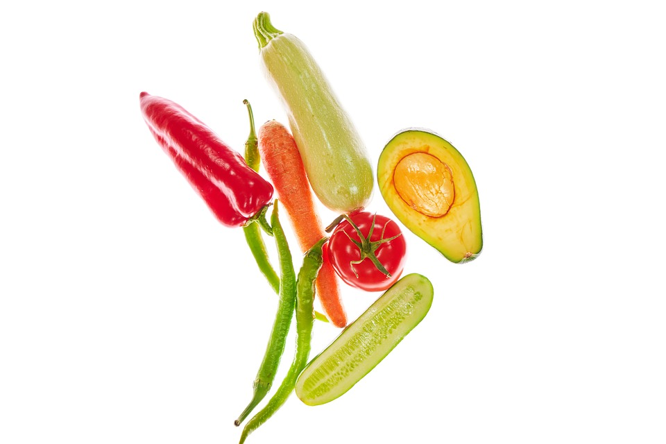 Vegetables, Healthy, Pepper, Avocado, Cucumber, Tomato