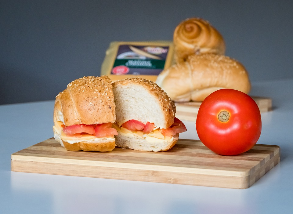 Sandwich, Food, Bread, Cheese, Tomato, Meal, Lettuce