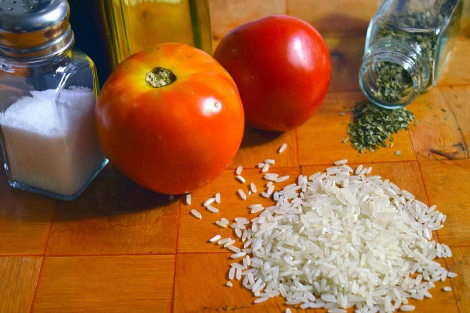 Rice, Tomato, Spanish Food, Ingredients