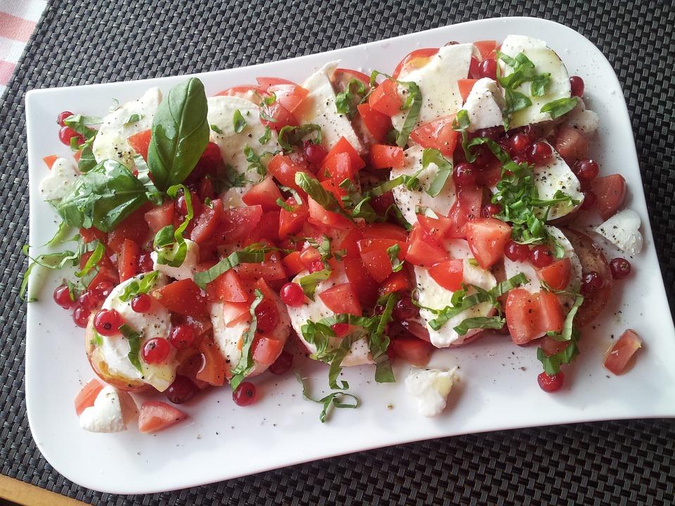 Caprese, Salad, Eat, Food, Tomato, Vegetables