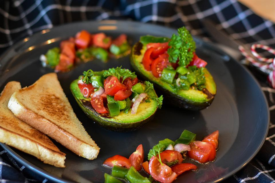 Avocado, Tomatoes, Vegetables, Cucumber, Salsa, Oil