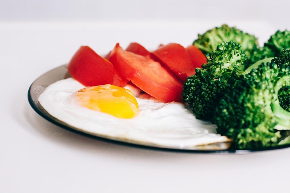 Eggs, Broccoli, Tomatoes, Breakfast, Food, Healthy