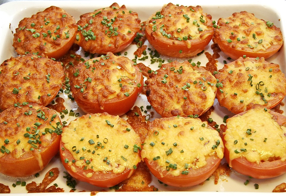 Tomatoes, Gratin, Cheese, Mozzarella, Oven, Garnish