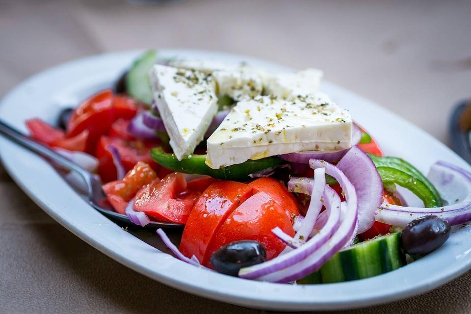 Salad, Onions, Greek, Food, Greek Salad, Tomatoes