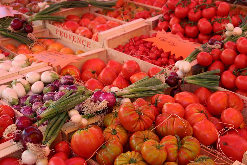 Vegetables, Tomatoes, Market, Provence, Vaucluse