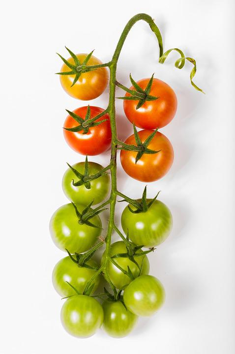 Tomato, Cherry, Tomatoes, Bunch, Isolated, Food, White