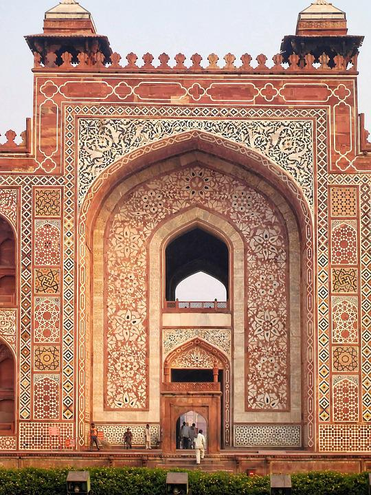 India, Delhi, Tomb, Akbar, Khan, Architecture