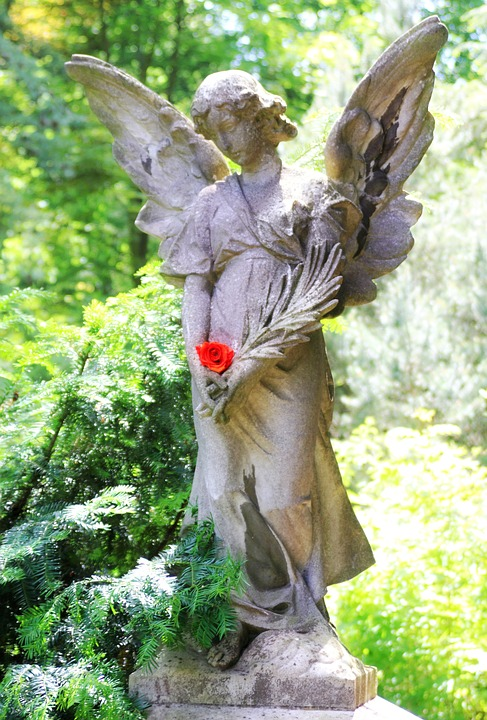 Angel, Grave, Tombstone, Mourning, Transience, Memorial