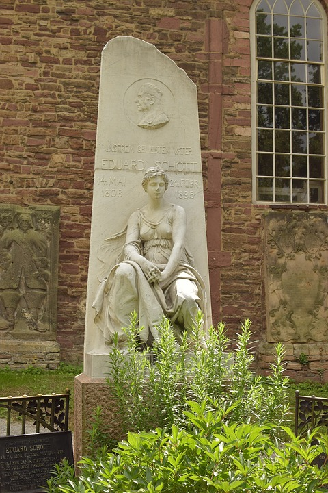 Tombstone, Historically, Old, Woman, Monument