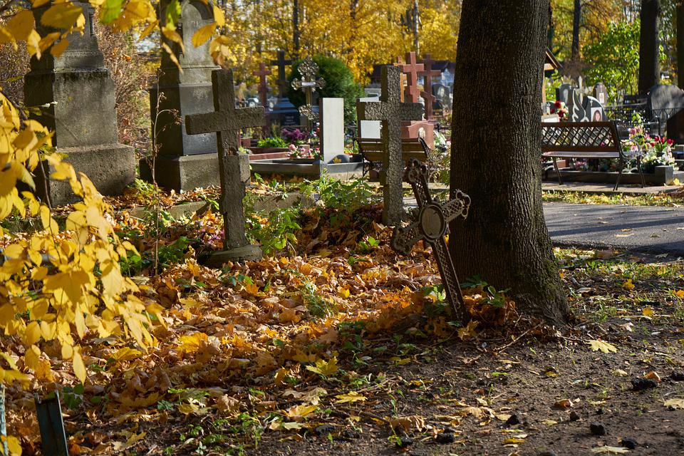 Cemetery, Graveyard, St Petersburg, Russia, Tombstones