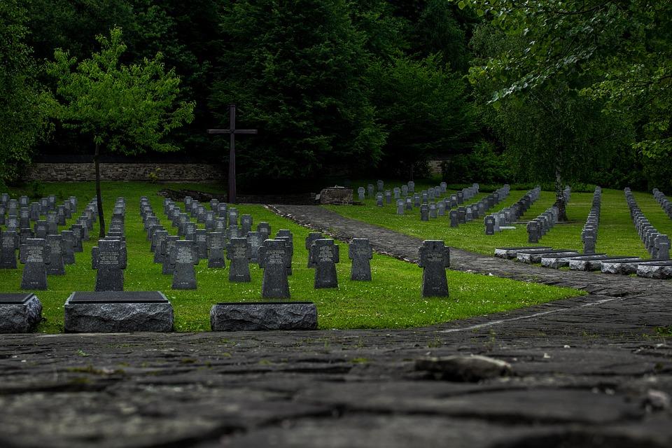 The Military Cemetery, Cross, Tombstones